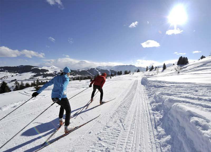 Ski nordique sur le domaine olympique des Saisies